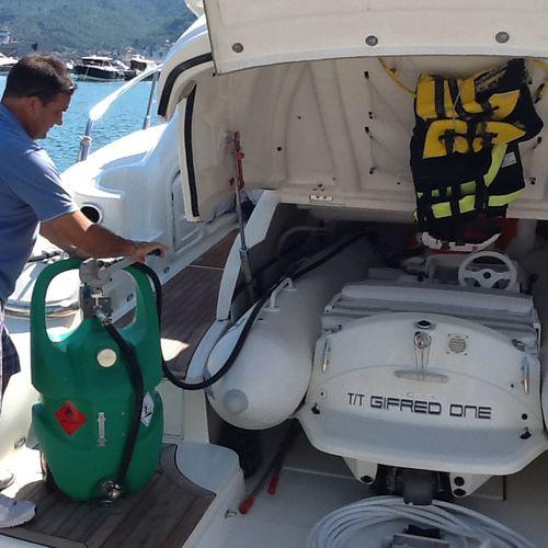 tanque de combustível / para barco / portátil / com bomba de transferência