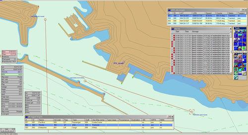 simulador para treinamento / para navio / para rádio