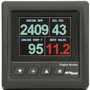 visor para barco / de temperatura / de pressão de óleo / de LED