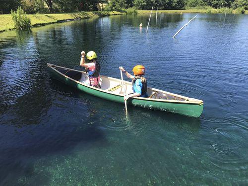 canoa multiusos / de 3 lugares / em madeira
