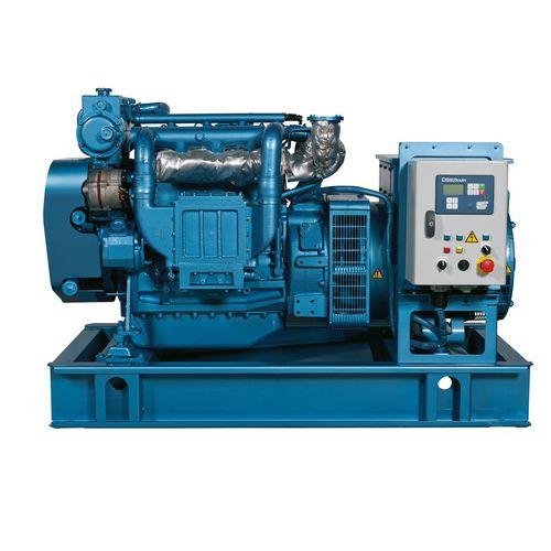 grupo gerador de energia para navio / a diesel / rápido / de emergência