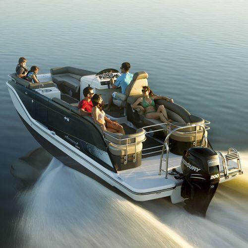 pontoon boat com motor de popa / de wakeboard / para esqui aquático / máx. 14 pessoas