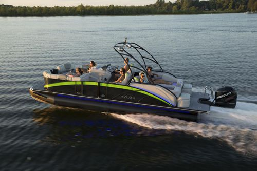 pontoon boat com motor de popa / máx. 11 pessoas