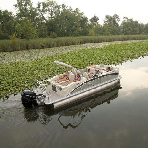pontoon boat com motor de popa / tri-tube / máx. 13 pessoas
