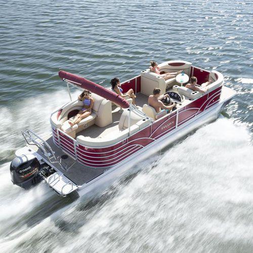 pontoon boat com motor de popa / máx. 9 pessoas