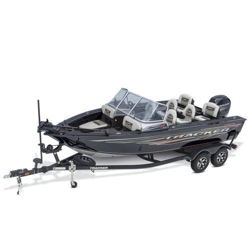 bay boat com motor de popa / com console dupla / de pesca esportiva / em alumínio