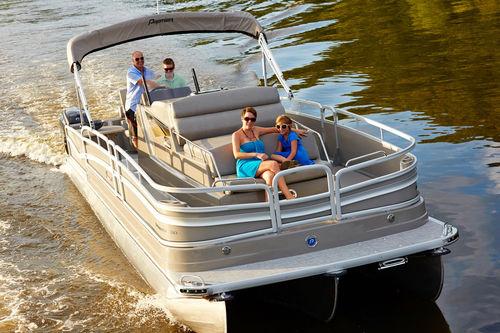 pontoon boat com motor de popa / trimotor / bimotor / tri-tube