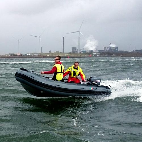 barco profissional barco salva-vidas / com motor de popa / em alumínio / barco inflável semirrígido