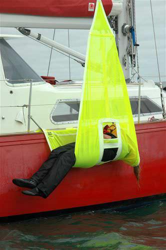 rede para bote de resgate / de salvamento de homem ao mar
