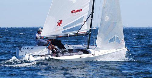 veleiro esportivo com quilha