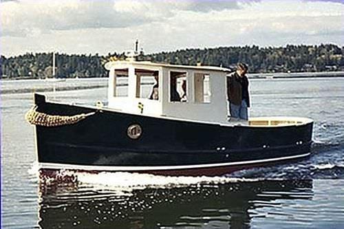 lancha Day Cruiser com motor de centro / em madeira / clássica
