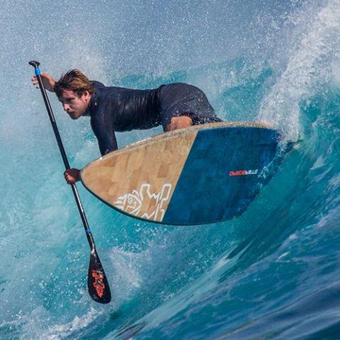prancha de stand-up paddle de Wave / em carbono
