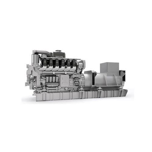 grupo gerador de energia para navio / a diesel / rápido / auxiliar