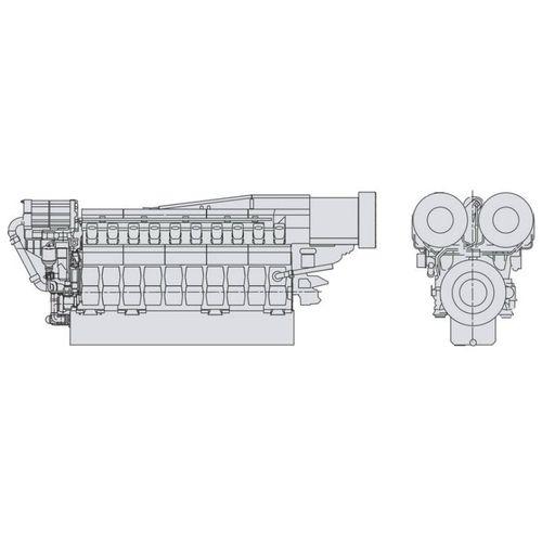 grupo gerador de energia para navio / a diesel / semirrápido