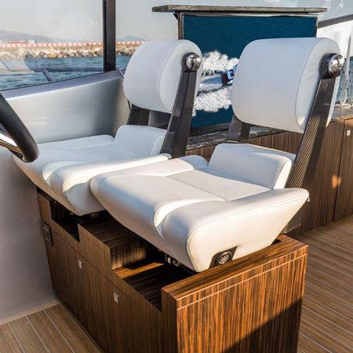 assento de piloto / para barco / para iate / ajustável