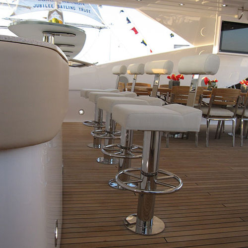 banqueta alta para barco / em inox polido
