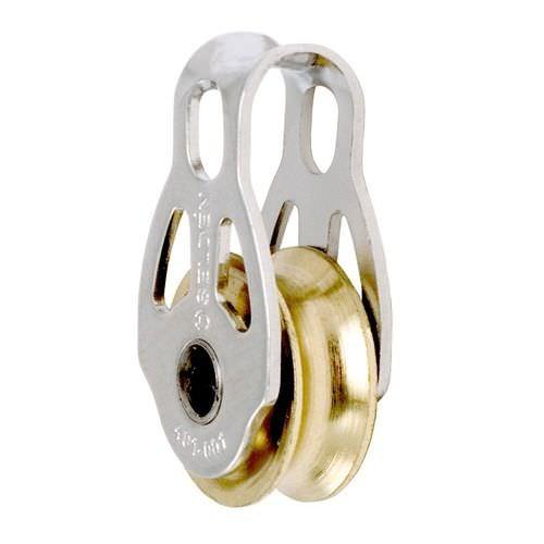moitão de mancal liso / simples / com argola / ø máx. corda: 6 mm