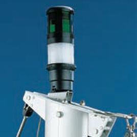 luz de navegação para barco / para lâmpada incandescente / verde / de topo de mastro