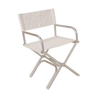 cadeira para barco / dobrável / em alumínio