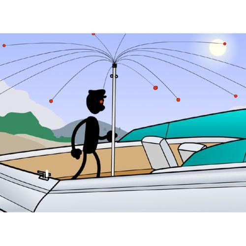dispositivo antipássaros para barco