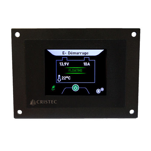 painel de comando para barco / para bateria / com tela sensível ao toque