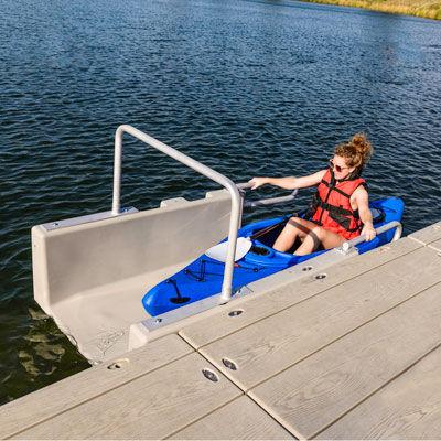 sistema de lançamento na água para caiaque