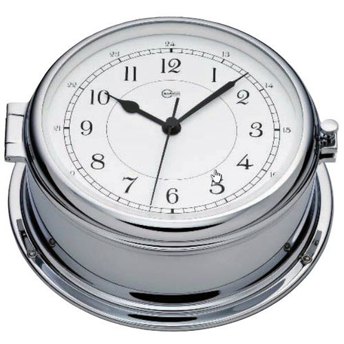 relógio analógico / em cromo
