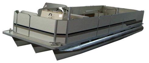 barco profissional barco de trabalho / catamarã / com motor de popa / pontoon boat