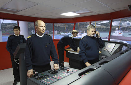 simulador de radar / de ECDIS / de treinamento / para navio