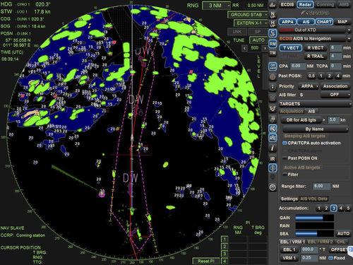 radar para navio / ARPA / com AIS