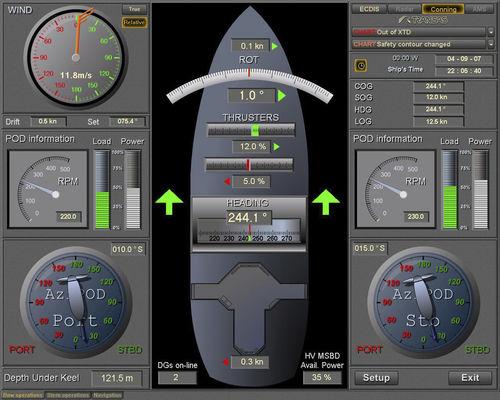 software para sistema de controle e de alarme / para navio / para iate