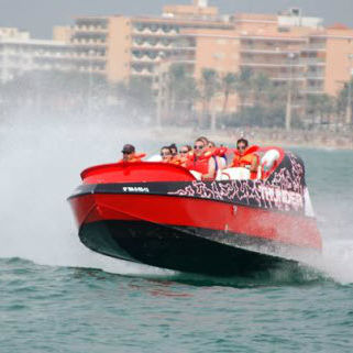 barco profissional barco de passeio / com motor de centro hidrojato