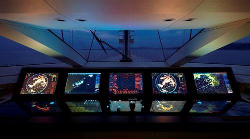monitor náutico / multifuncional / com tela sensível ao toque