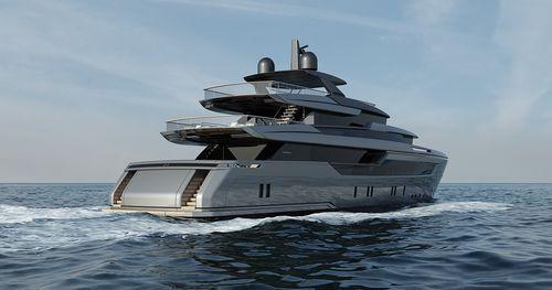 super-iate de cruzeiro / com casa de leme elevada / em alumínio / com casco de deslocamento
