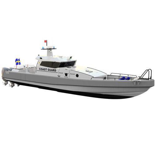 barco-patrulha / com motor de popa / a diesel / em alumínio