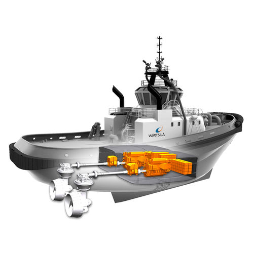 sistema de propulsão para navio / híbrido diesel-elétrico / com motor elétrico