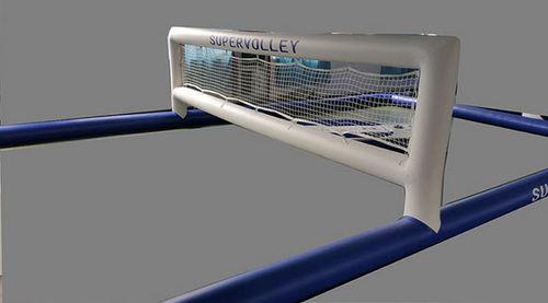 equipamento de diversão aquática quadra de vôlei