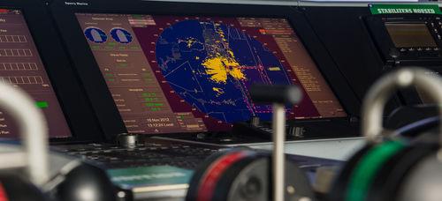radar para navio / ARPA / com ECDIS / com função cartográfica