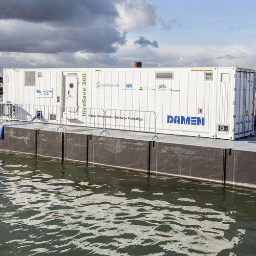 sistema de tratamento de água de lastro / para navio / para estaleiro naval / de contêiner