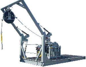 sistema de lançamento e recolhimento para ROV
