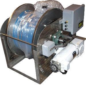 guincho para navio / para cabo umbilical de ROV / hidráulico