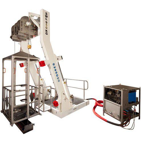 sistema de lançamento e recolhimento para gaiolas de mergulho