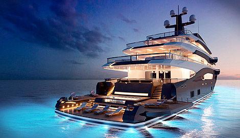 mega-iate de cruzeiro / com casa de leme elevada / em aço / com piscina