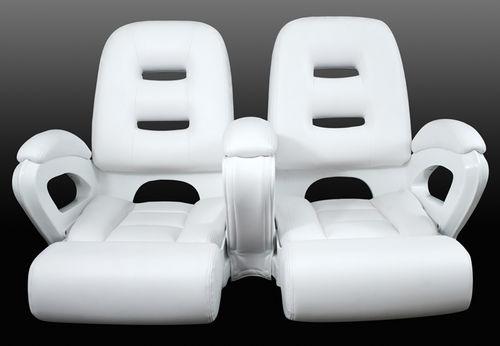 assento de piloto / para barco / rebatível / com encosto alto