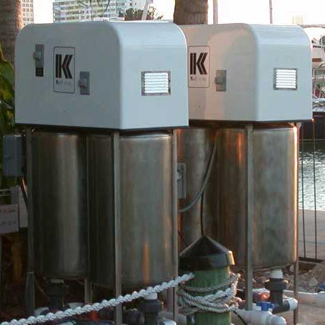 sistema de sucção de esgoto para barco / para marina / bomba de vácuo