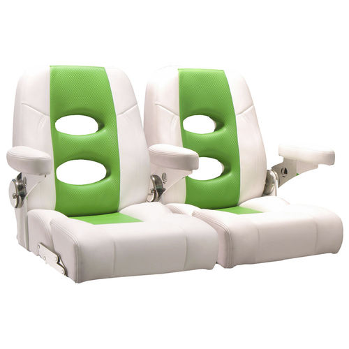 assento concha / para barco / com braços / de 2 lugares