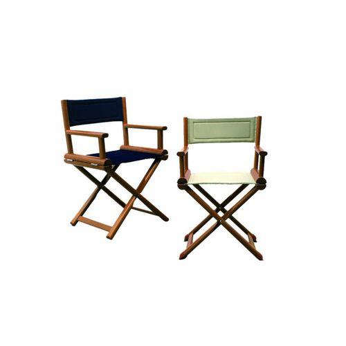 cadeira estilo diretor de cinema para barco / dobrável / em madeira