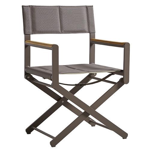 cadeira estilo diretor de cinema para barco / dobrável / em alumínio
