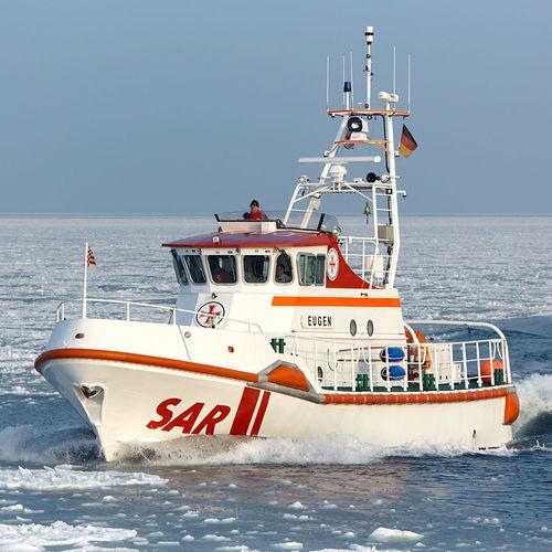 barco de busca e salvamento / com motor de centro / auto-inflável / em alumínio