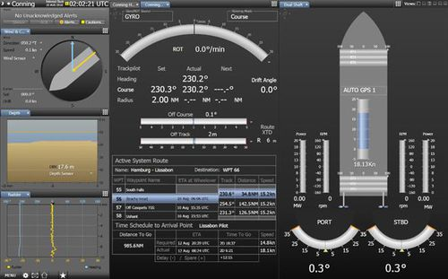 software de navegação / para navio